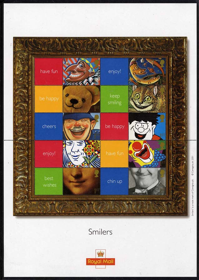 "2001 GB - LS5 - ""Smiles"" Smiler Sheet (20) ** SCARCE **"