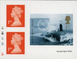 2001 GB - SG2207+ Submarine 1st Class Complete Right SA Cyl MNH