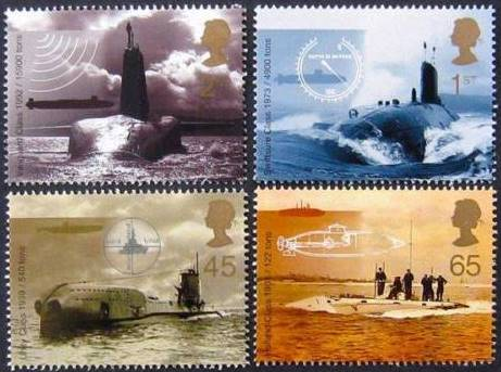 2001 GB - Centenary of Submarine Set (4) from DX27 (1) MNH