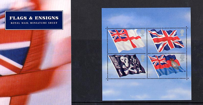 2001 GB - PP M06 - Flags and Ensigns - (WITH INSERT) Pres Pk
