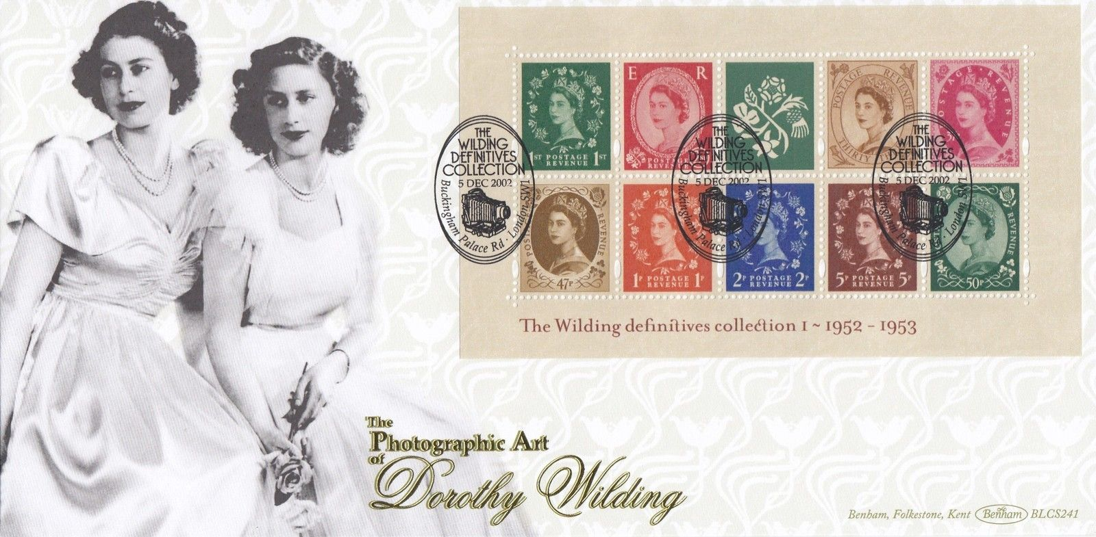 2002 GB - BLCS241 - Wilding Miniature Sheet I (Benham FDC)
