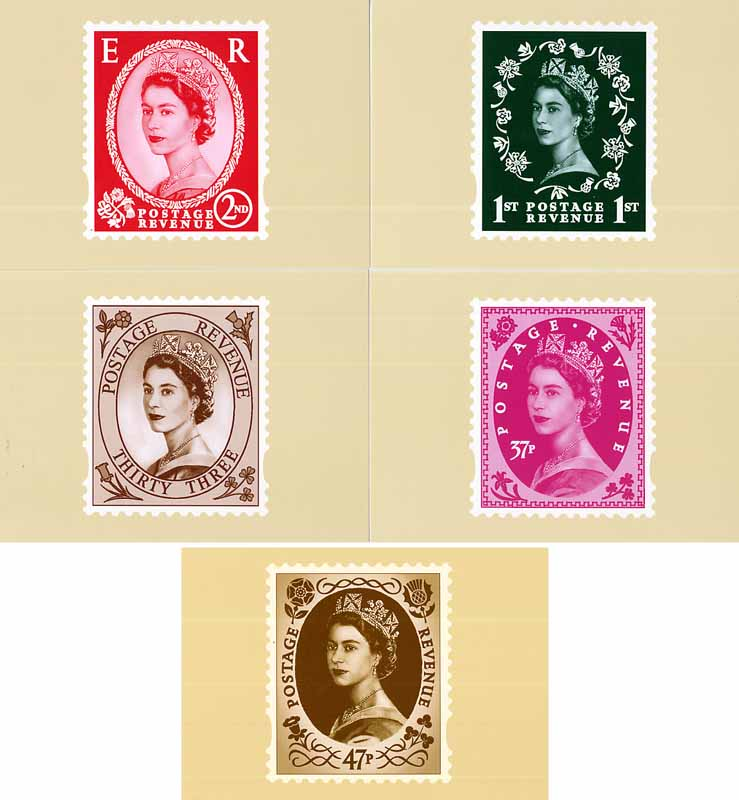 2002 GB - PHQ D21 - Wilding Definitives - Set (5) MNH