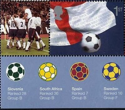 "2002 GB - LS8 (SG1597) - ""World Cup"" Smiler Single+Label BM MNH"