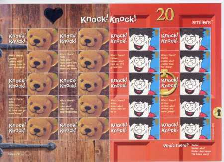"2002 GB - LS9 - ""Knock Knock"" Smiler Sheet (20)"