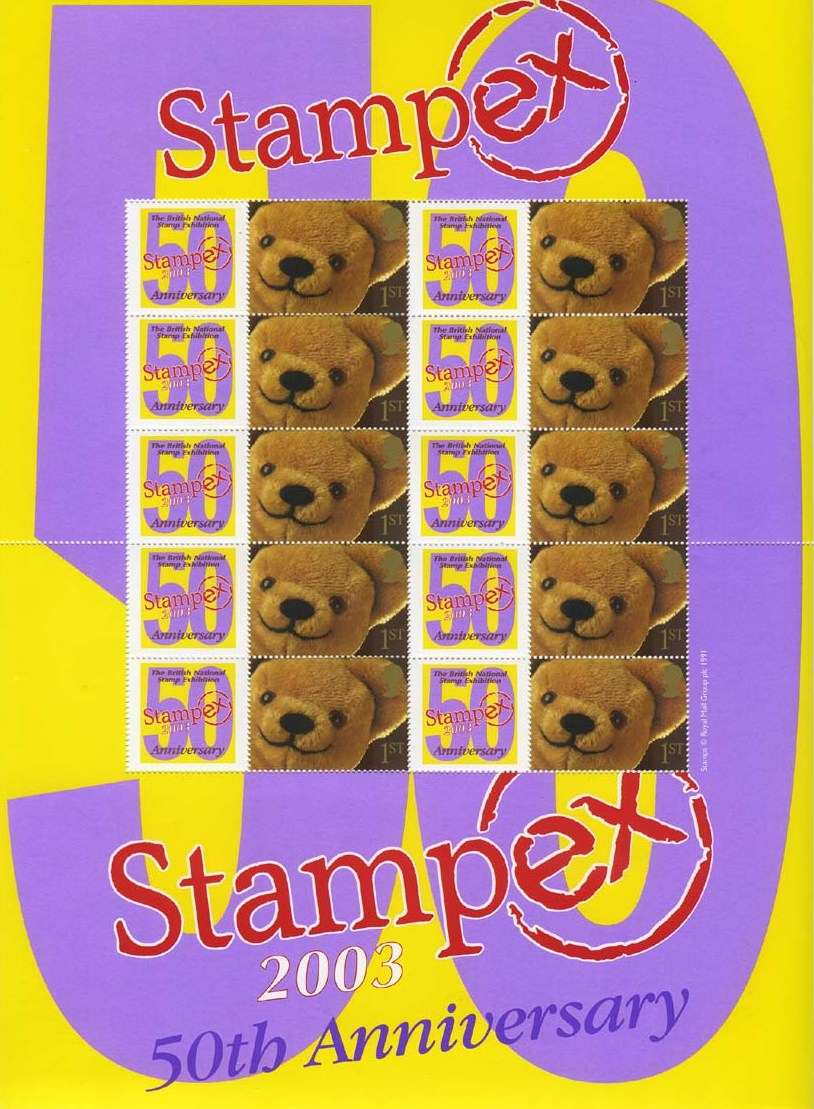 2003 GB - BC-011 - Stampex Autumn 50th Anniv Smiler Sheet MNH