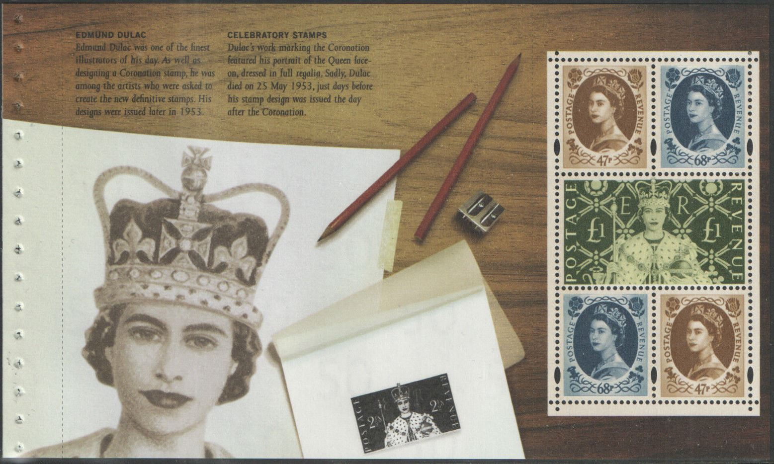2003 GB - SG2378a Pane 4 Perfect Coronation Wilding frm DX31 MNH
