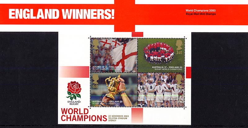 2003 GB - PP M09B - England Rugby World Cup Winners