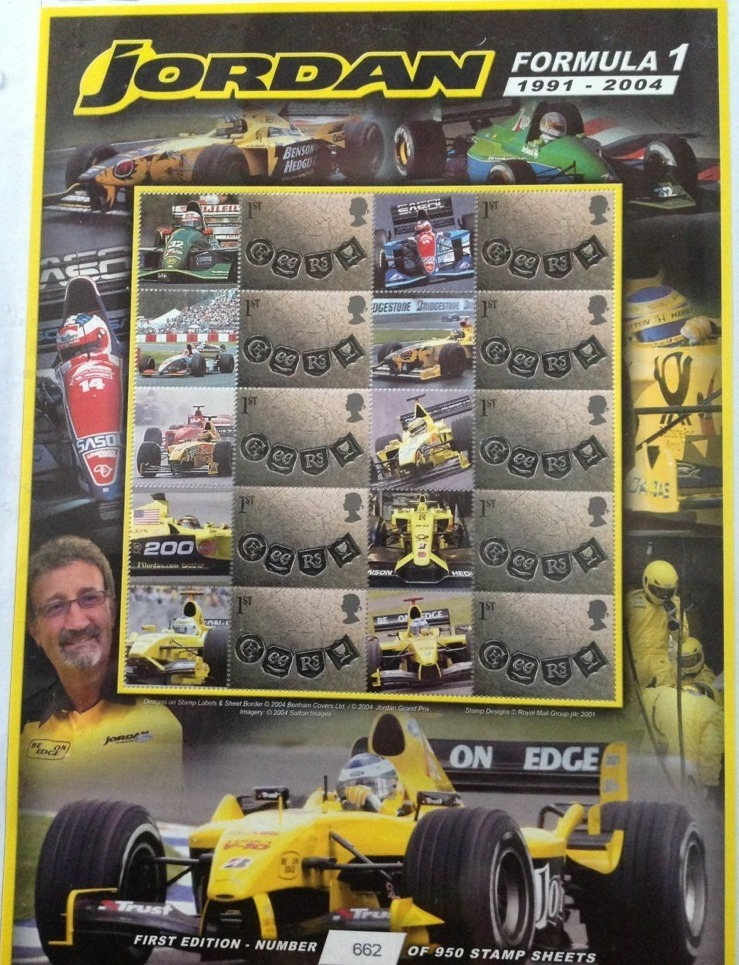 2004 GB - CS15 - Jordan Formula 1 (1993-2004) Smiler Sheet MNH