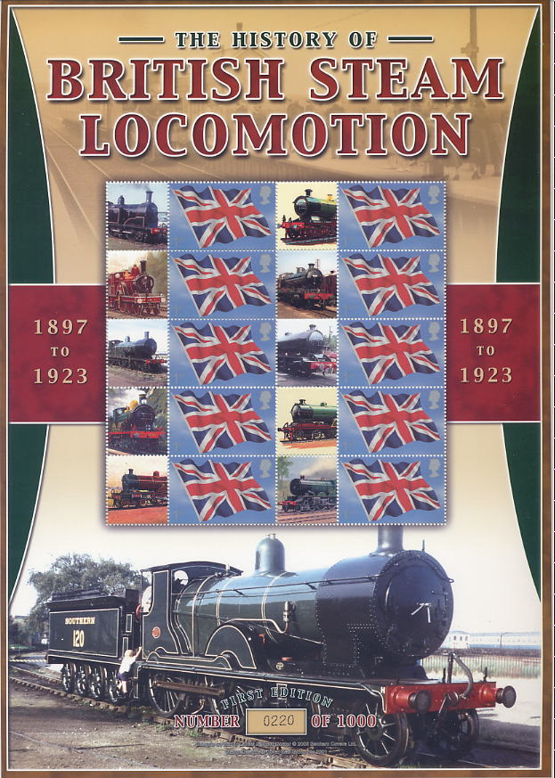 2005 GB - BC-052 - British Steam Locomotion Smiler Sheet MNH