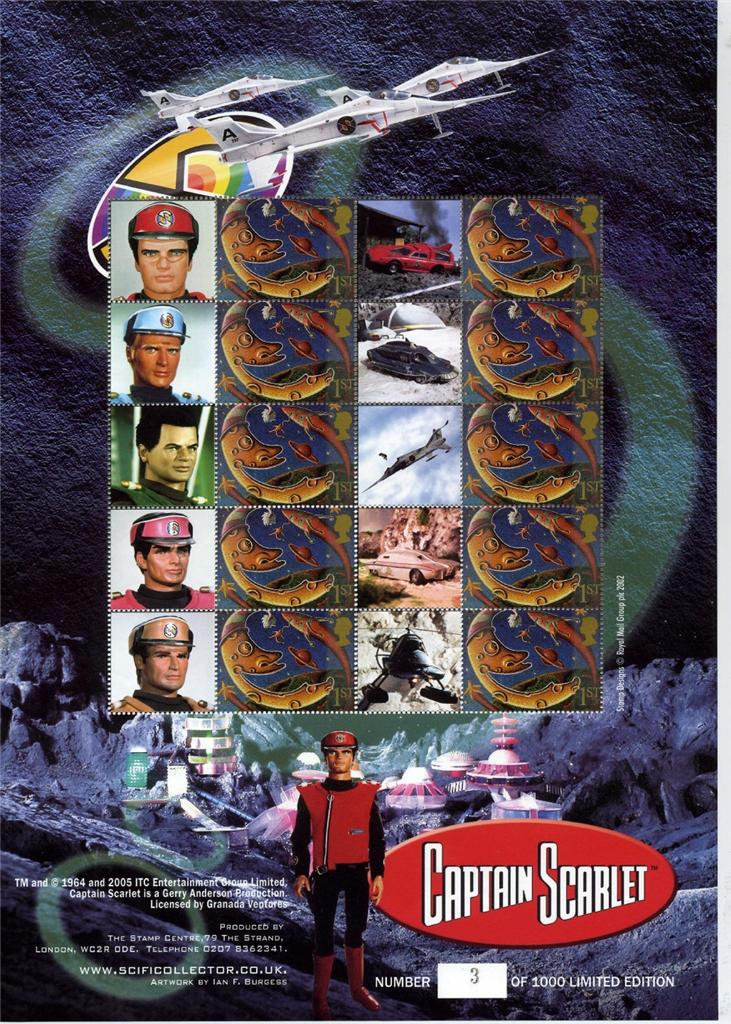2005 GB - BC-066 - Captain Scarlet (Limted Edn) Smiler Sheet MNH