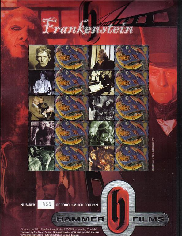 2005 GB - BC-062 - Frankenstein (Limited Edtn) Smiler Sheet MNH