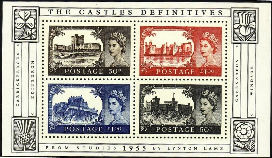 2005 GB - MS2530 - Anniv of Castle Definitives 1955-2005 MS MNH