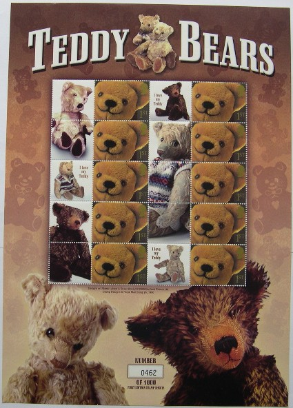 2005 GB - BC-031 - Benham Teddy Bears Smiler Sheet (Ltd Ed) MNH