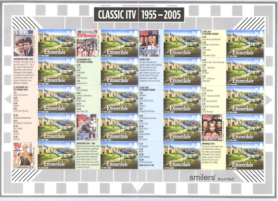 "2005 GB - LS26 - ""Classic TV"" Smiler Sheet MNH"