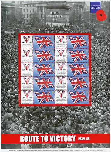 2005 GB - BC-055 - Route to Victory (Br Legion) Smiler Sheet MNH