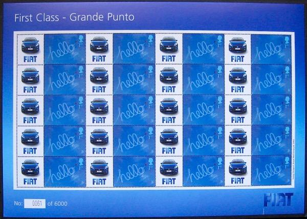 2006 GB - BC-096 - FIAT First Class Grande Punto Smiler Sht MNH