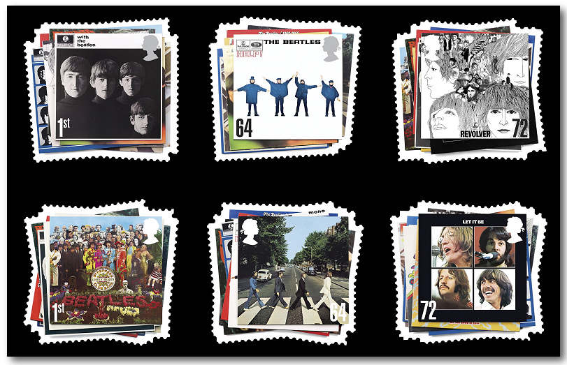 2007 GB - SG2686-91 The Beatles Set (6) MNH