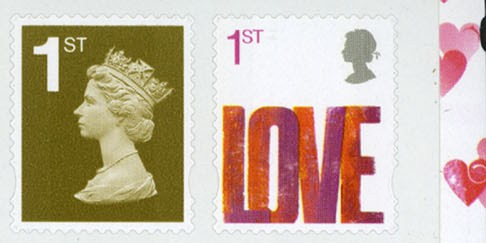 2007 GB - SG2693a Love (W) S-Adhesive from SA1 Booklet MNH