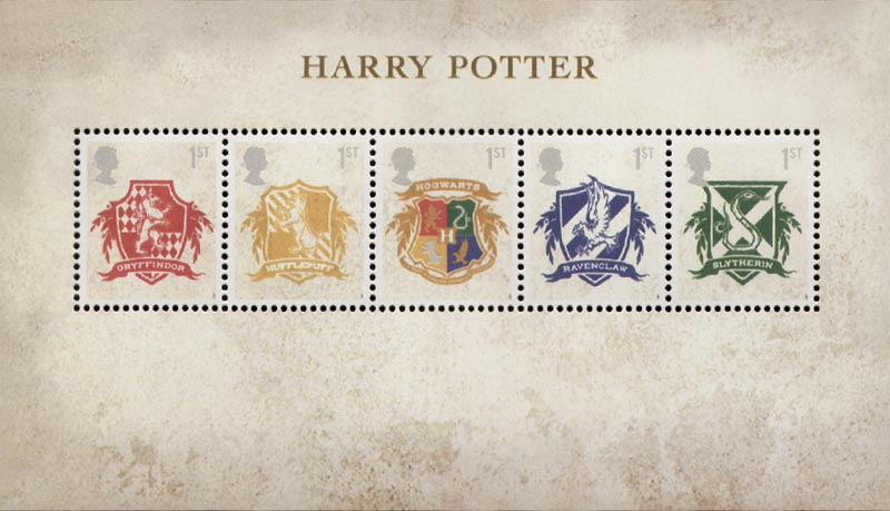 2007 GB - MS2757 - Harry Potter Books Mini-Sheet MNH