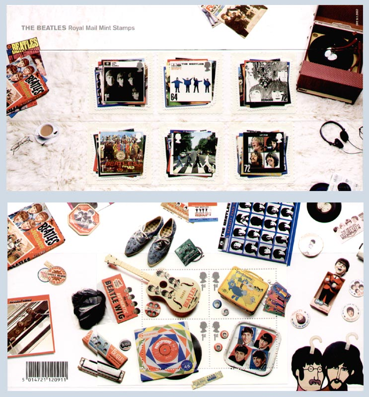2007 GB - PP 392 - Beatles (inc Mini-Sheet and Complete Set)
