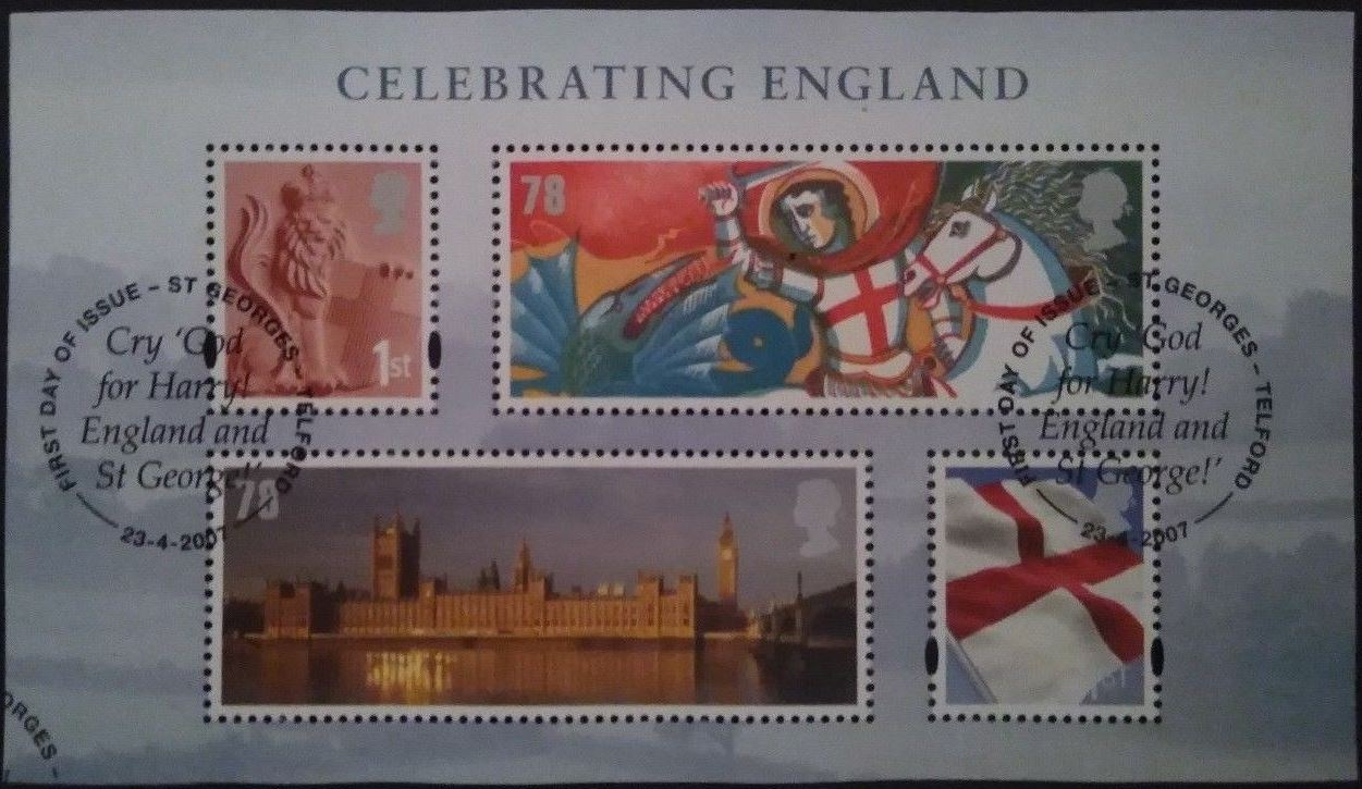 2007 GB - MSEN50 - Celebrating England Mini-Sheet VFU