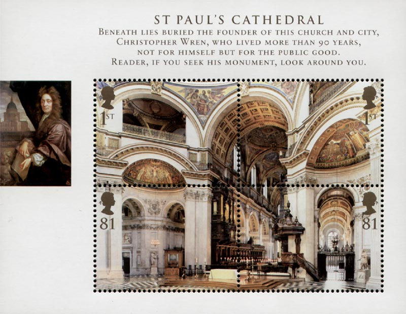 2008 GB - MS2847 - St Pauls Cathedral Miniature Sheet MNH