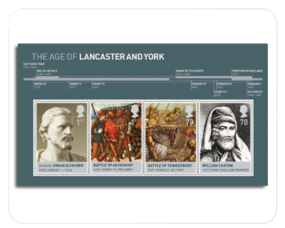 2008 GB - MS2818 - The Age of Lancaster and York MS MNH