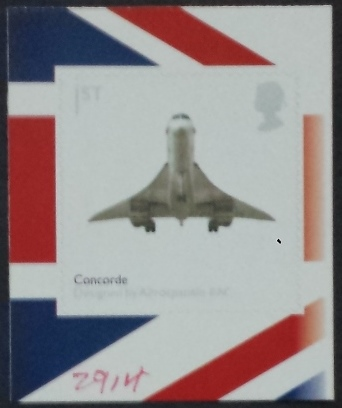 2009 GB - SG2914 Concorde Left Self Adhesive from PM19 Bklt MNH