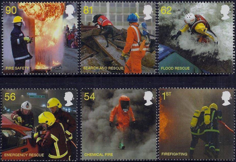 2009 GB - SG2958-63 Fire and Rescue Service Set (6) MNH
