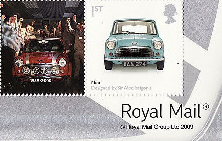 "2009 GB - LS56 - ""Design Classics: Mini Car"" B-R-Cnr Single MNH"