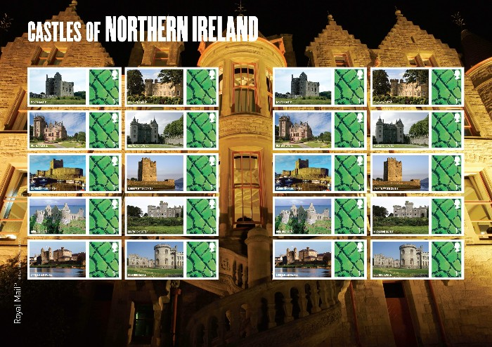 "2009 GB - LS58 - ""Castles of Northern Ireland"" Smiler Sheet MNH"