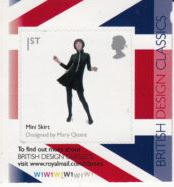2009 GB - SG2915 Mary Quant Mini-Skirt SA from PM20 Bklt CYL MNH