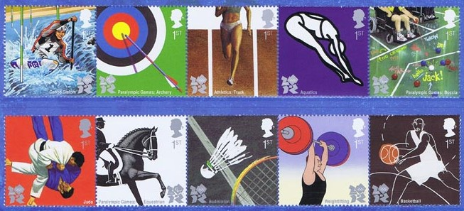 2009 GB - SG2981-90 Olympic and Paralympic Games (1st Issue) MNH
