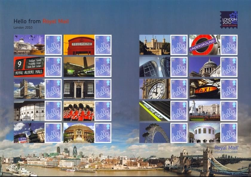 2010 GB - LS72 - Hello from London Festival of Stamps Smiler