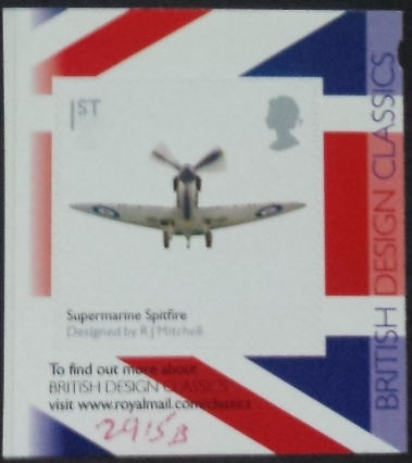 2010 GB - SG2915b Classic Spitfire (Right) SA from PM25 Bklt MNH