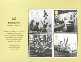 2010 GB - MS3086 - Britain Alone Dunkirk Mini-Sheet MNH