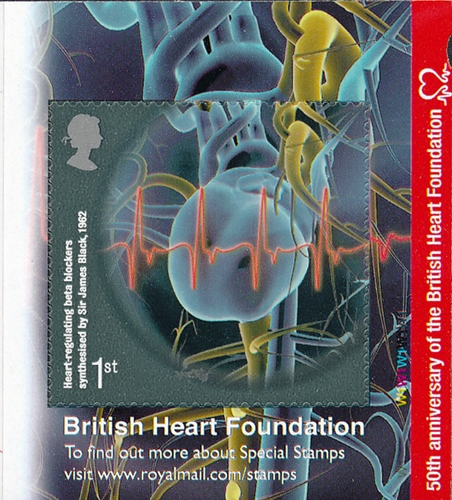2011 GB - SG3153 Heart Right Commem from PM28 Health Bklt MNH