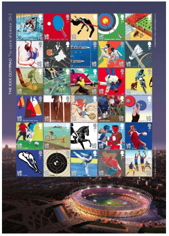 "2011 GB - SG3204a - ""XXX Olympiad - The Sports"" Smiler Sheet MNH"