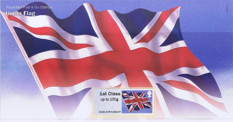 "2012 GB - P&G8 Post & Go Union Flag Pres Pack ""1st class"""