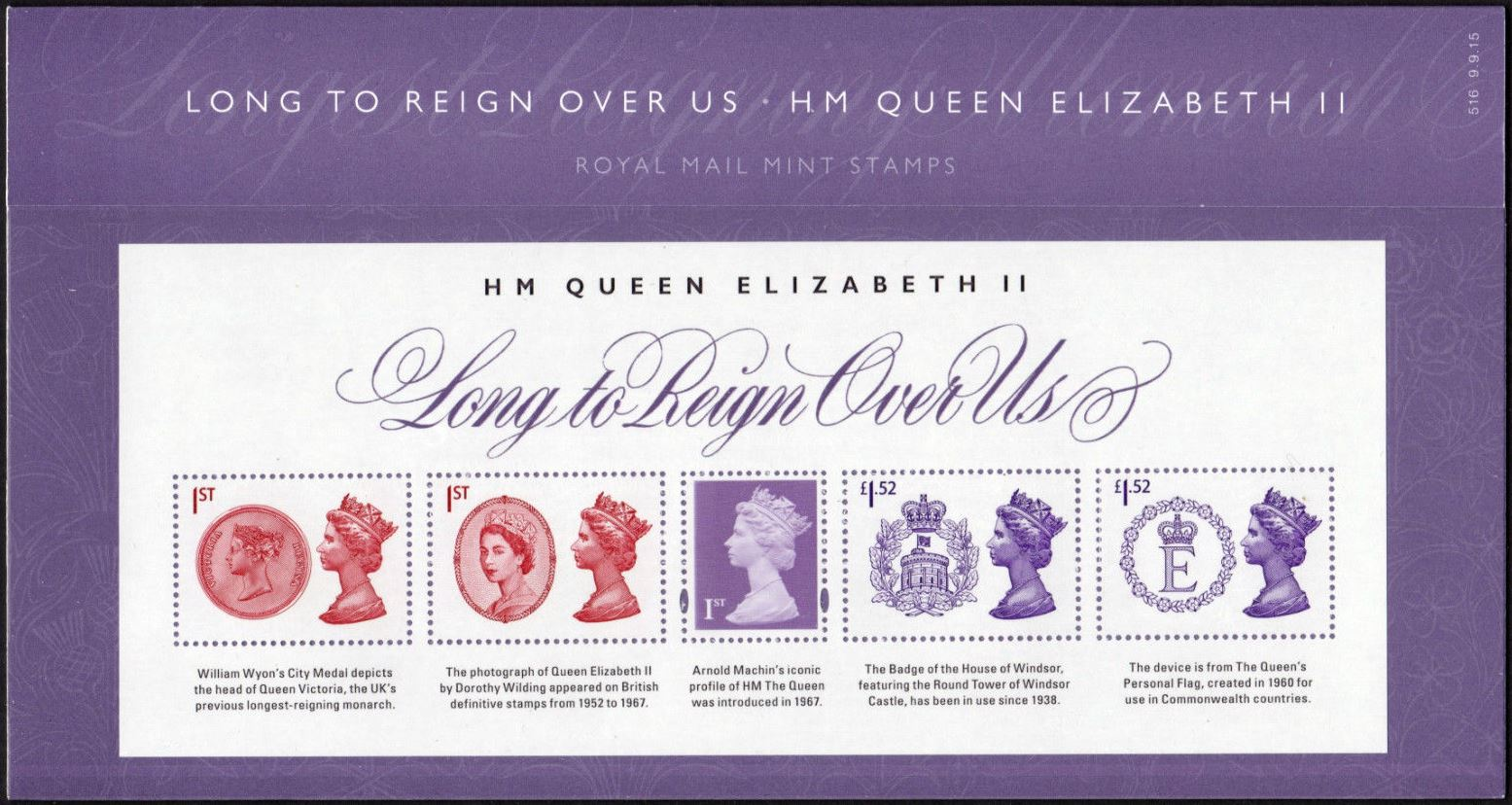"2015 GB - PP516 - ""Long To Reign Over Us"" MS Presentation Pk MNH"