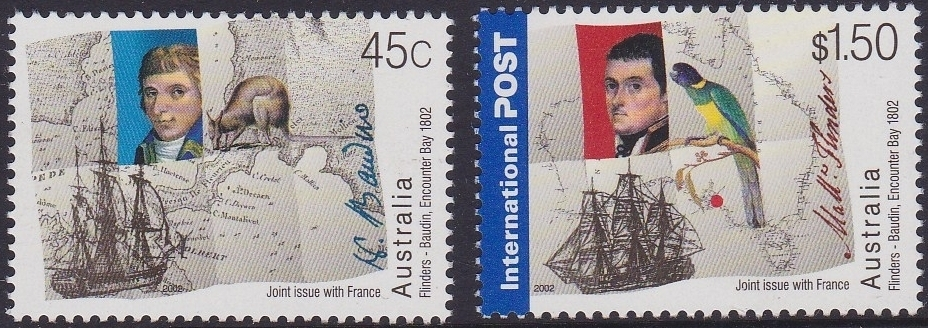 2002 AUS - SG2193-4 Joint Issue with France Flinders Set MNH