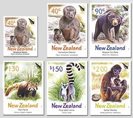 2004 NZ - Zoo Animals Set (6) inc S/A Used CTO