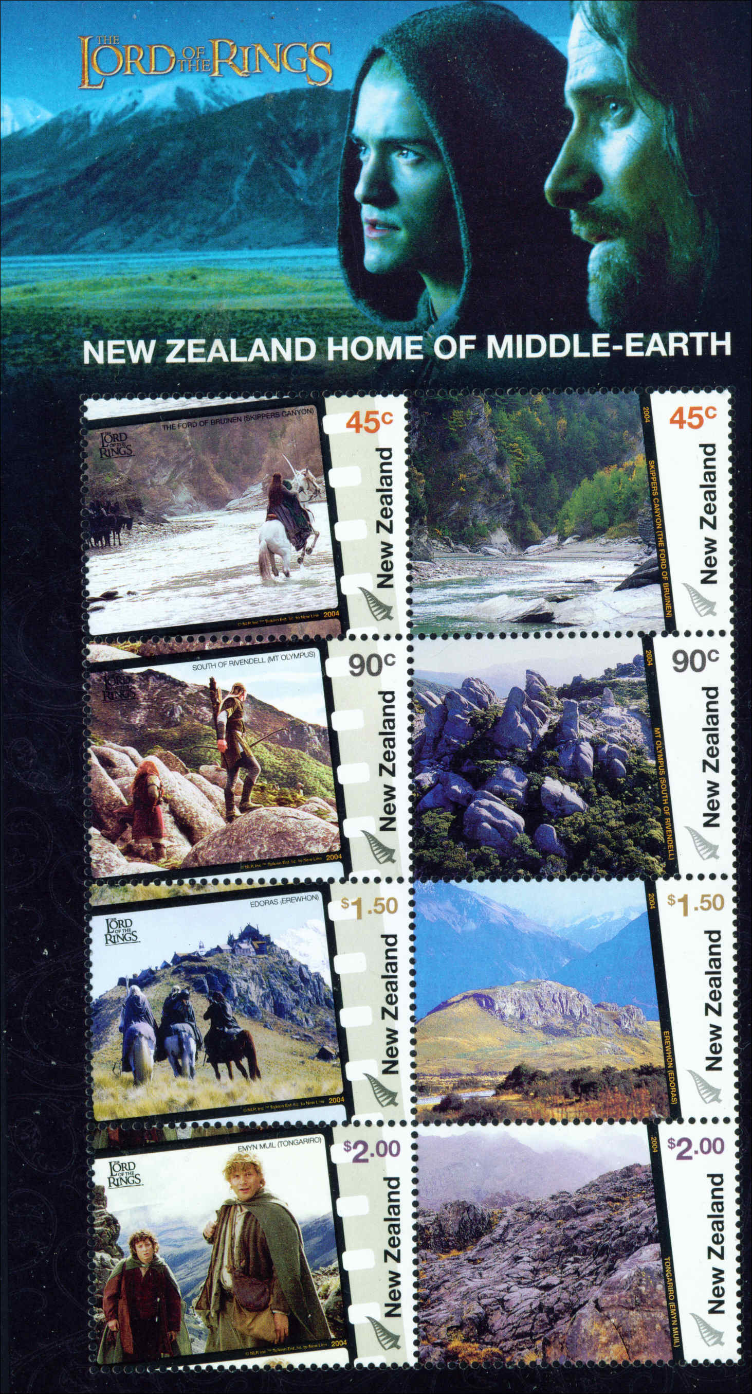 2004 NZ - Lord of Rings Middle Earth M/S MNH