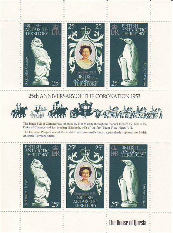1978 - Brit Antarctic Terr - 25th Anniv of Coronation M/S MNH