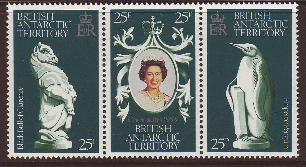 1978 - Brit Antarctic Terr - 25th Anniv of Coronation Set(3) MNH