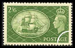 1951 GB - SG509 2/6d Green MM