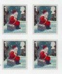 2006 GB - Christmas WITH MATRIX S/A Block of 4 MNH