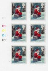 2006 GB - Christmas WITH MATRIX S/A Cyl Blk of 6 MNH