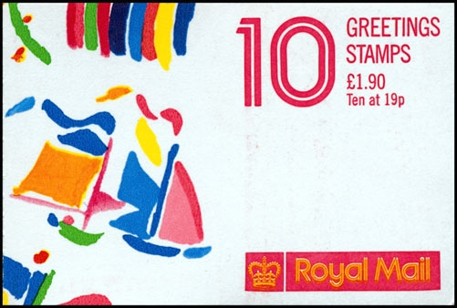 1989 GB - FY1 £1.90 - 10 x 19p (Cyl) Booklet