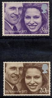 1973 GB - SG941-42 - Princess Anne Royal Wedding Set (2) MNH